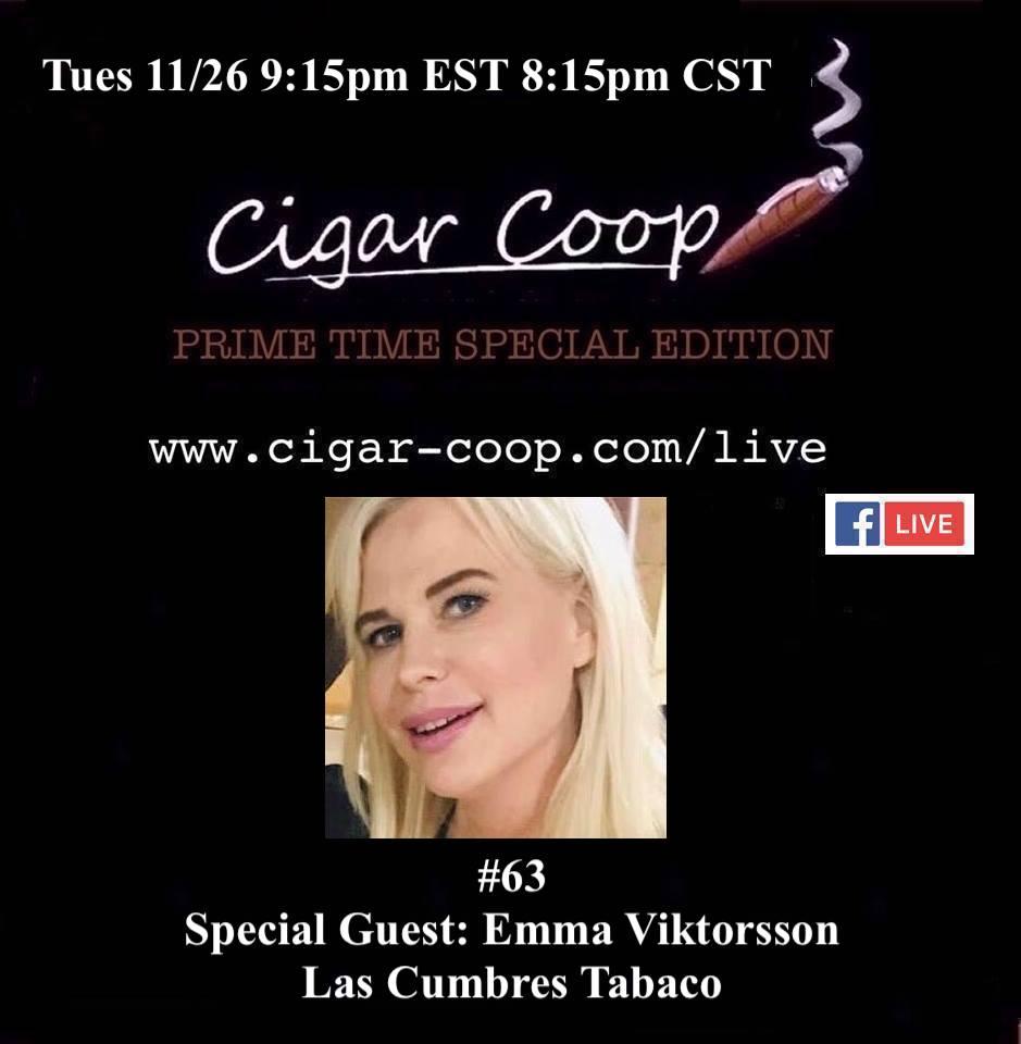 Announcement: Prime Time Special Edition 63 – Emma Viktorsson, Las Cumbres Tabaco