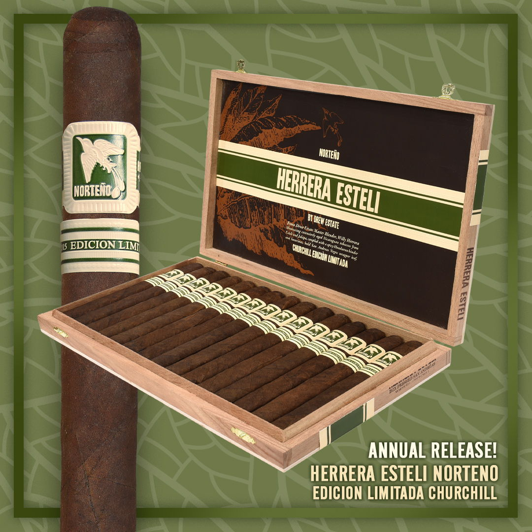 Cigar News: Drew Estate Brings Back Herrera Esteli Norteño Edicion Limitada Churchill for 2019