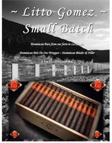 Cigar News: Litto Gomez Diez Small Batch Set to Hit Retailers