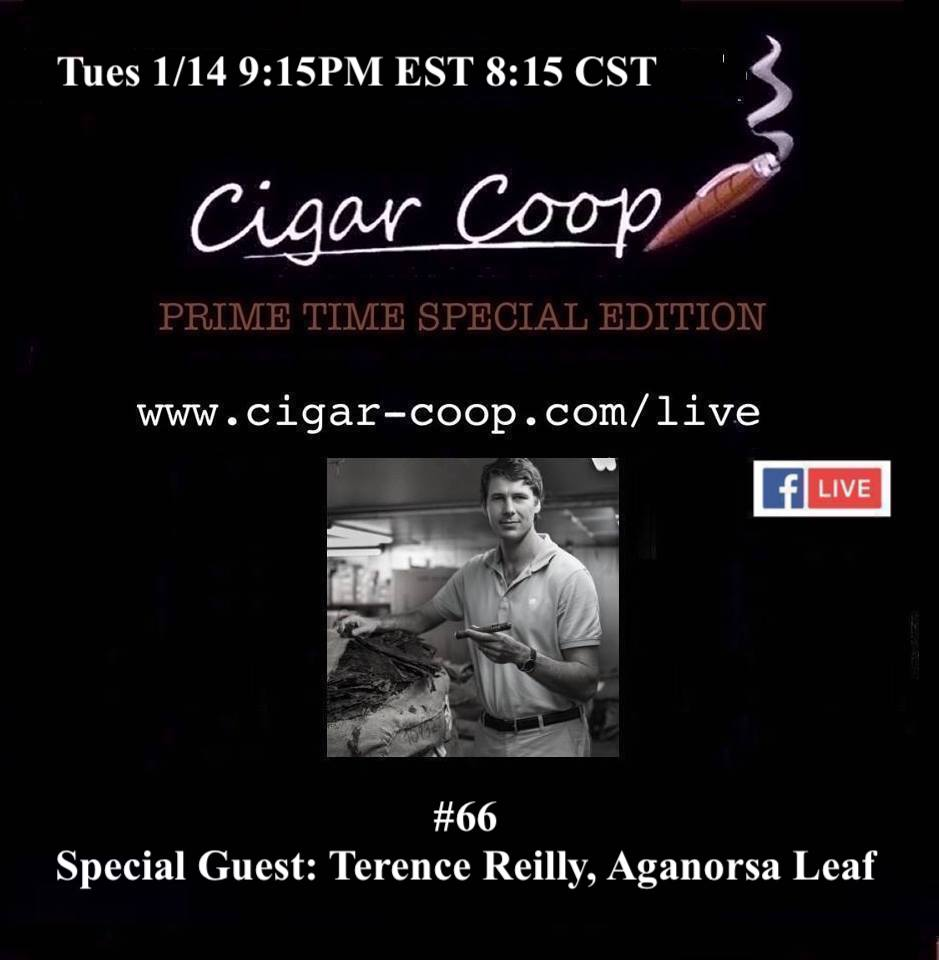 Announcement: Prime Time Special Edition 66: Terence Reilly, Aganorsa Leaf