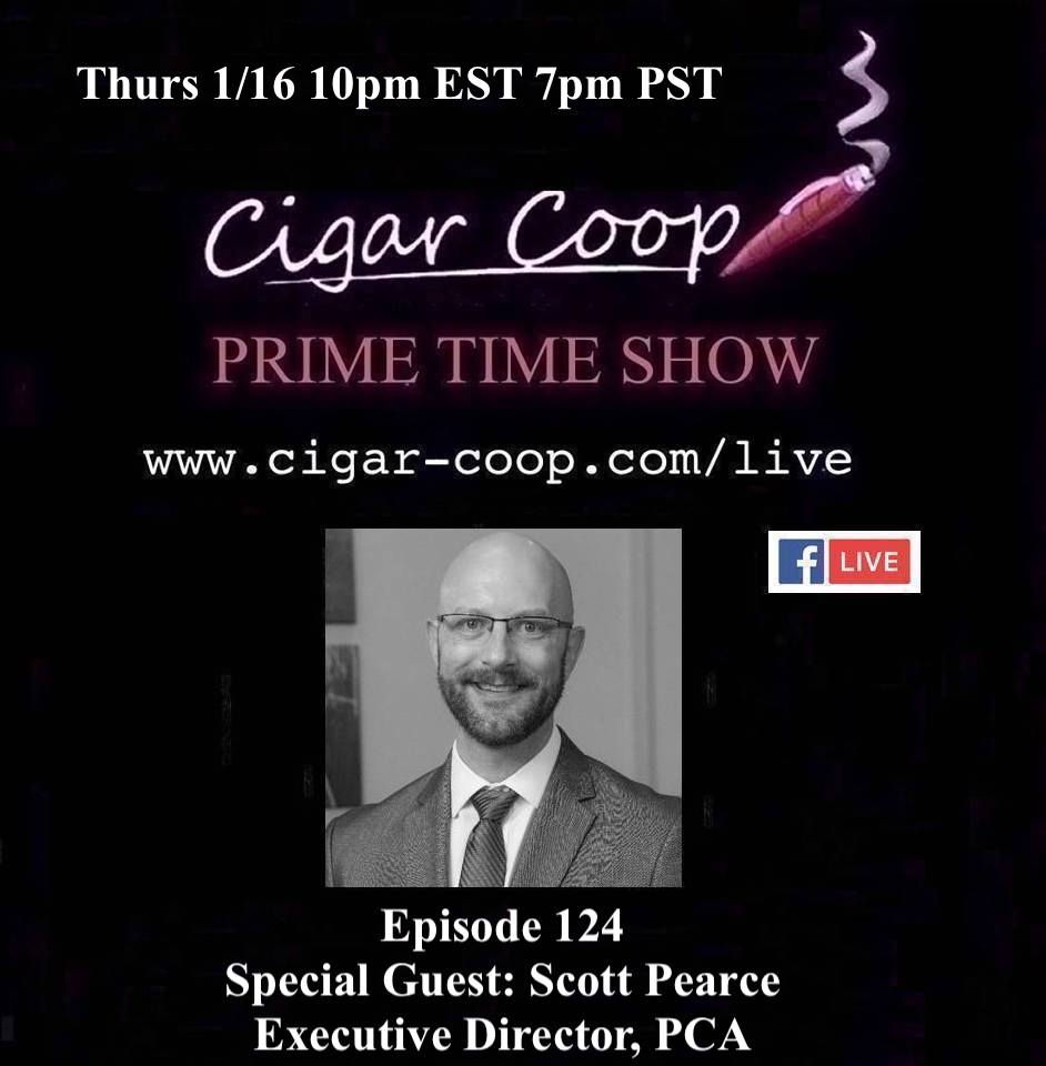 Announcement: Prime Time Episode 124 – Scott Pearce, Premium Cigar Association