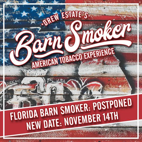 Cigar News: Drew Estate Reschedules Florida Barn Smoker to November
