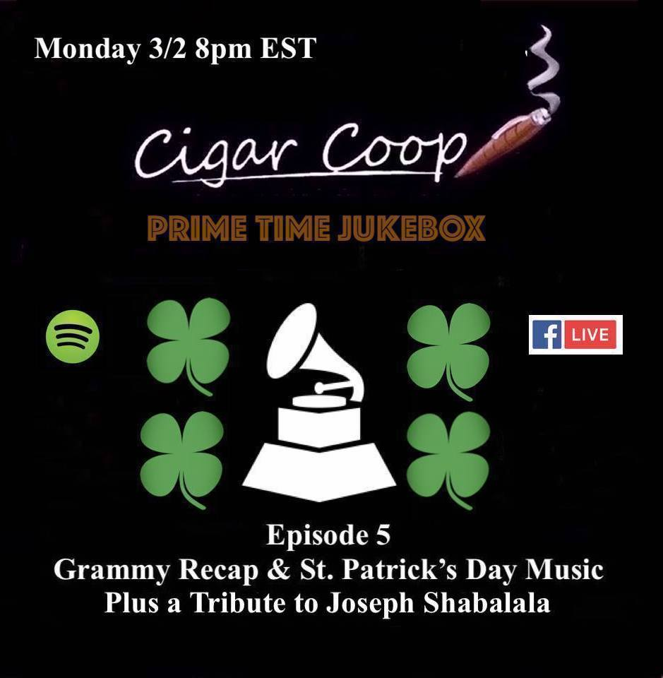 Announcement: Prime Time Jukebox Episode 5 – The Grammys, St. Patrick's Day and a Tribute to Joseph Shabalala