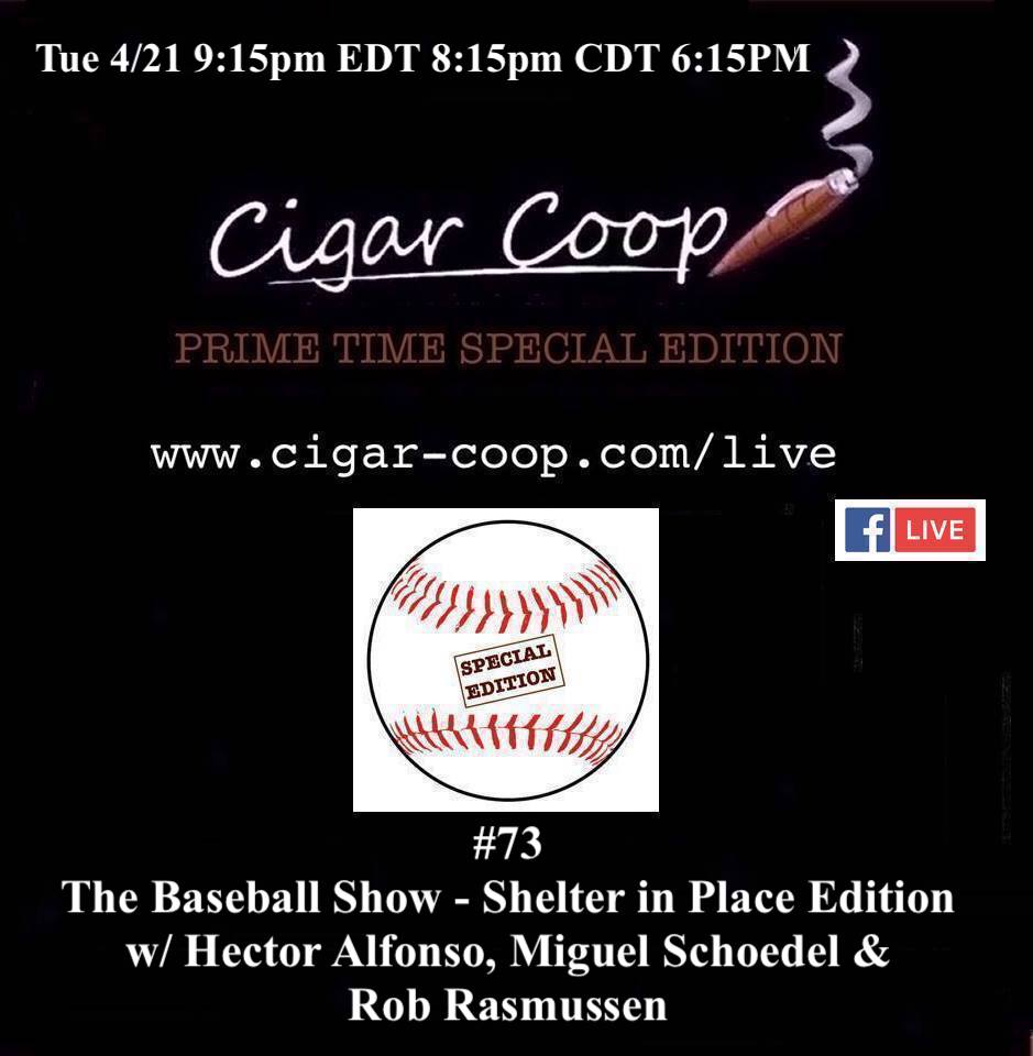 Announcement: Prime Time Special Edition 73:  The Baseball Show – Shelter in Place Edition