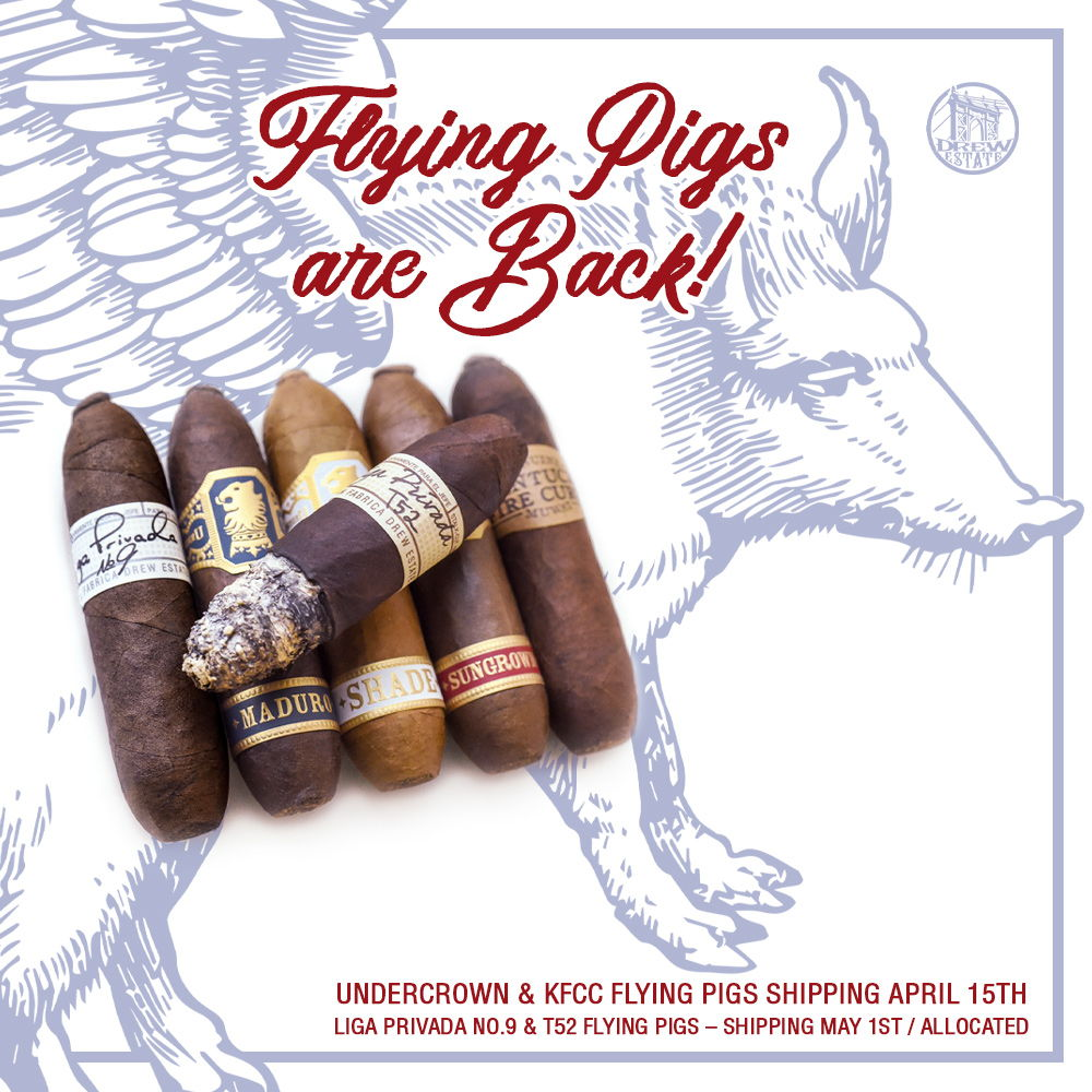 Cigar News: Drew Estate Announces Release of 2020 Flying Pigs