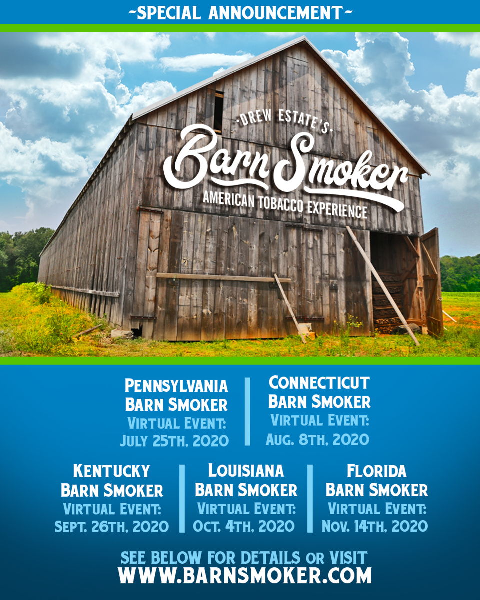 Cigar News: Drew Estate Cancels 2020 Barn Smoker Season and Announces Virtual Events