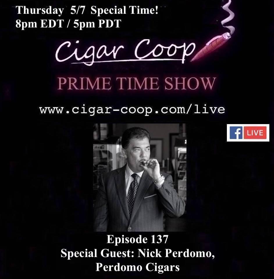 Announcement: Prime Time Episode 137: Nick Perdomo, Perdomo Cigars