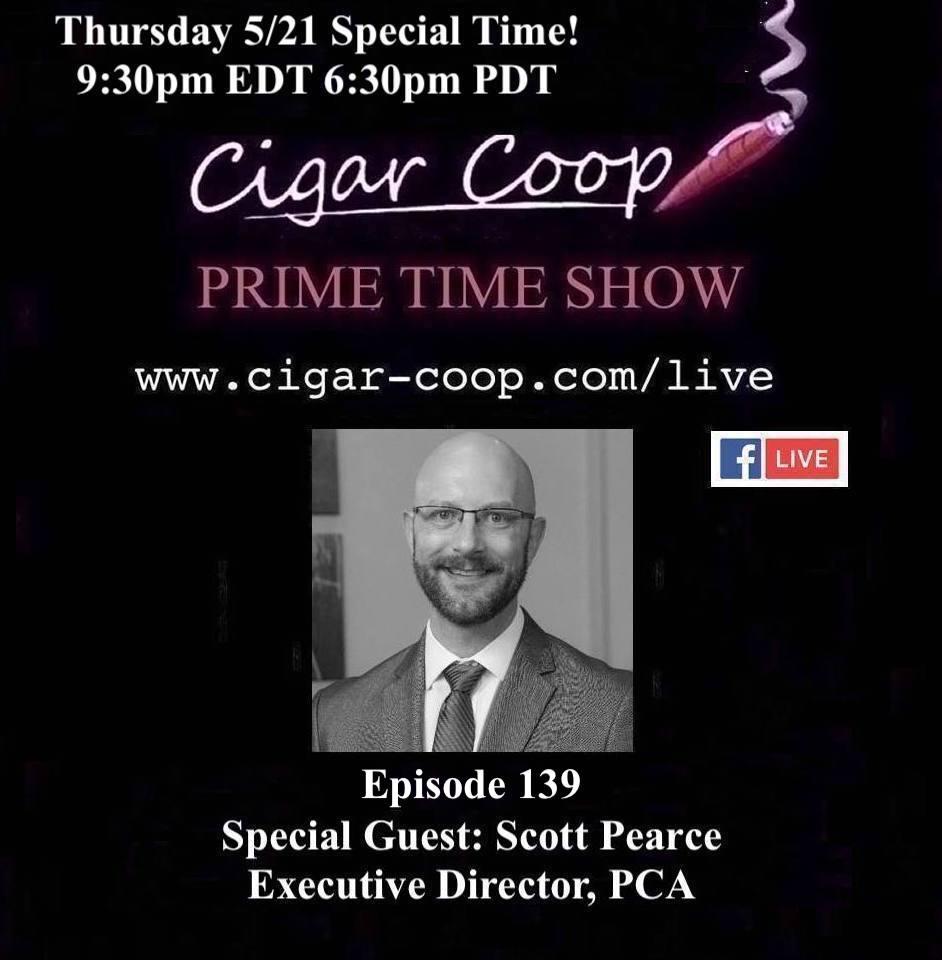 Announcement: Prime Time Episode 139 – Scott Pearce, Premium Cigar Association