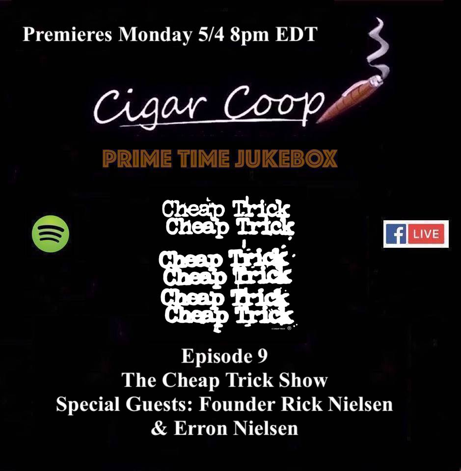 Announcement: Prime Time Jukebox Episode 9 – The Cheap Trick Show with Rick Nielsen and Erron Nielsen