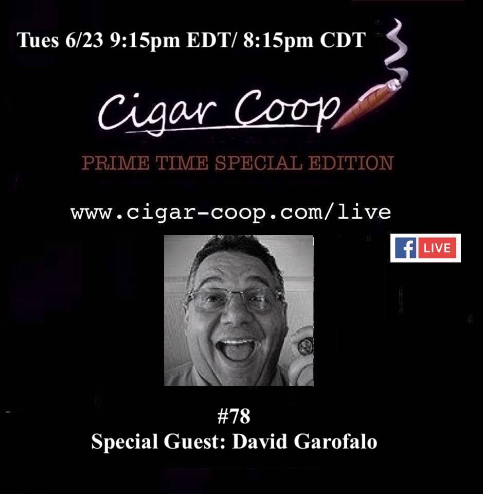 Announcement: Prime Time Special Edition 78 – David Garofalo