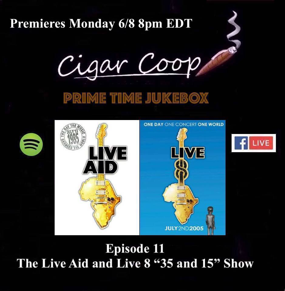 """Announcement: Prime Time Jukebox Episode 11 – The Live Aid and Live 8 """"35 and 15"""" Show"""