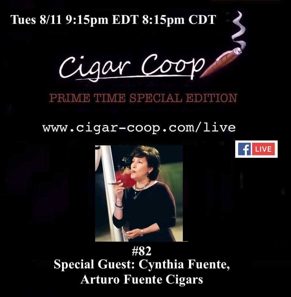 Announcement: Prime Time Special Edition 82 – Cynthia Fuente, Arturo Fuente Cigars