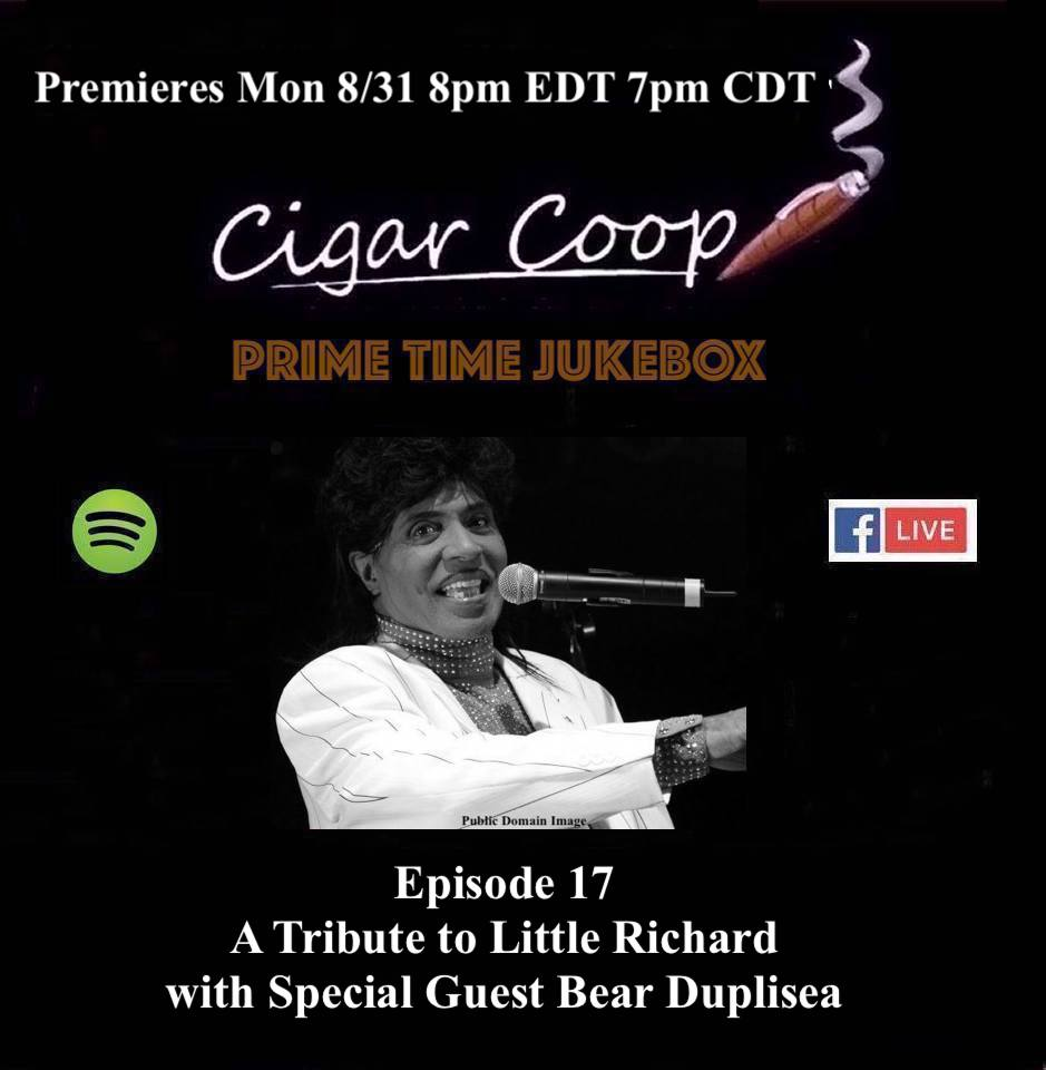 Announcement: Prime Time Jukebox Episode 17 – The Little Richard Tribute Show with Bear Duplisea