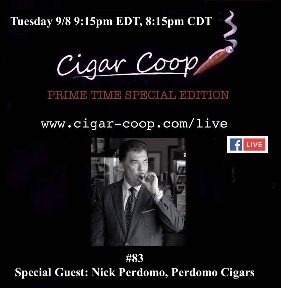 Announcement: Prime Time Special Edition 83 – Nick Perdomo, Perdomo Cigars