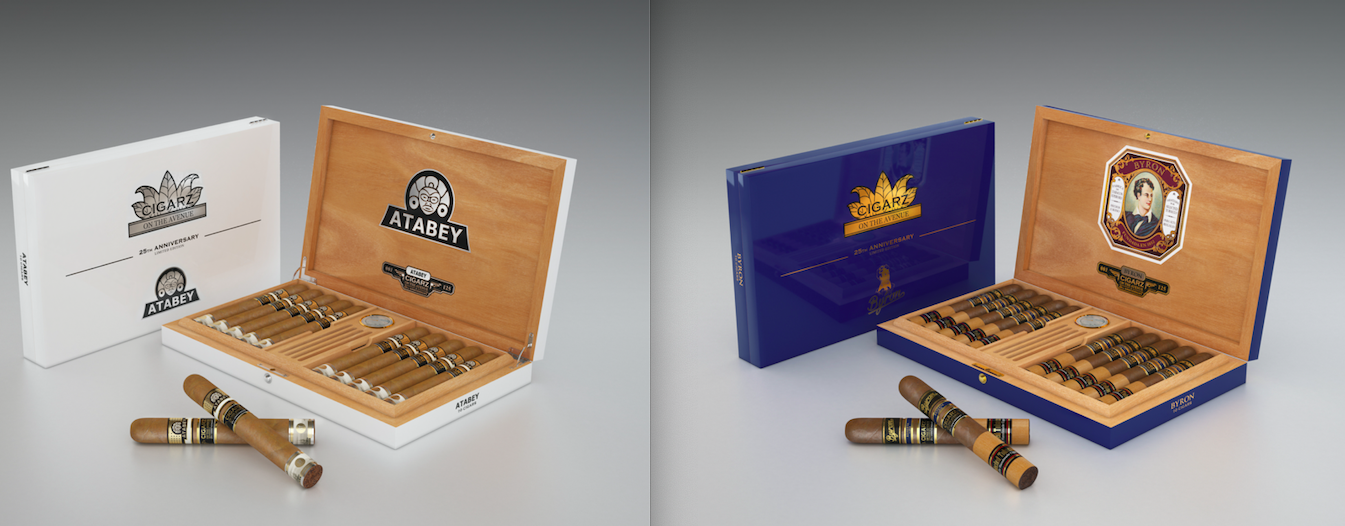 Cigar News: United Cigars Releasing Atabey and Byron 25th Anniversary Commemorative Humidor Sets for Cigars on the Avenue