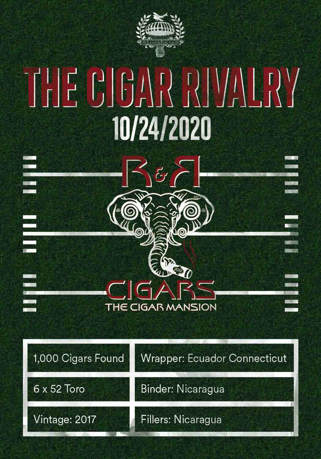 """Cigar News: Lost & Found """"The Cigar Rivalry"""" Coming to R & R Cigar Mansion for 2020 Alabama – Tennessee Game"""