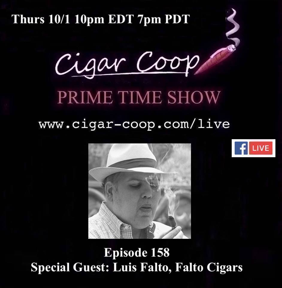 Announcement: Prime Time Episode 158 – Luis Falto, Falto Cigars