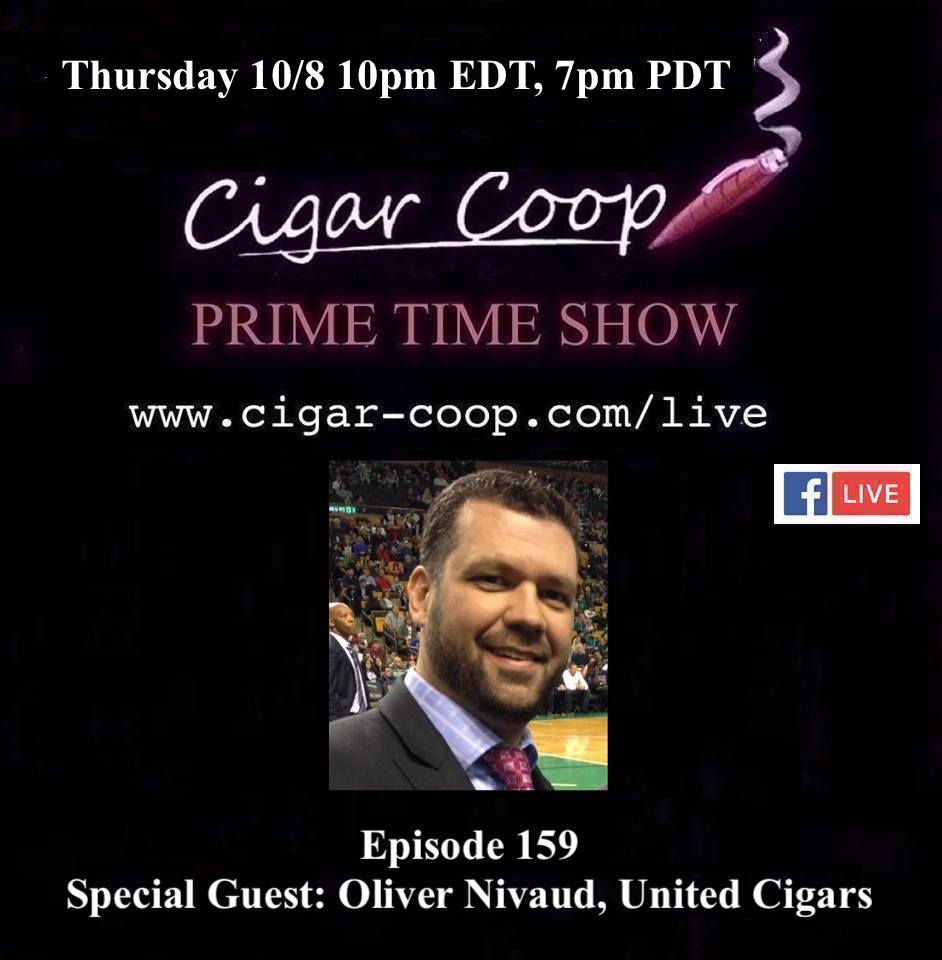 Announcement: Prime Time Episode 159 – Oliver Nivaud, United Cigars
