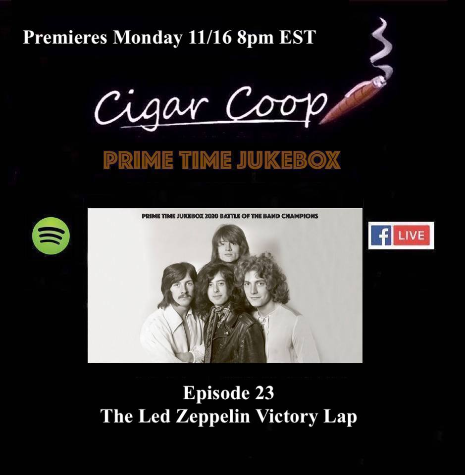 Announcement: Prime Time Jukebox Episode 23 – The Led Zeppelin Victory Lap