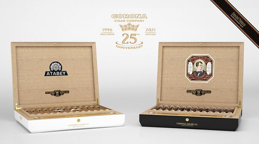 Cigar News: United Cigars Releasing Atabey and Byron 25th Anniversary Commemorative Humidor Sets for Corona Cigar Company