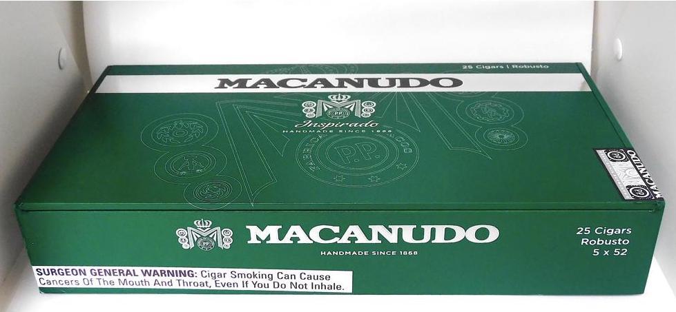 Macanudo Inspirado Green Robusto - Closed Box