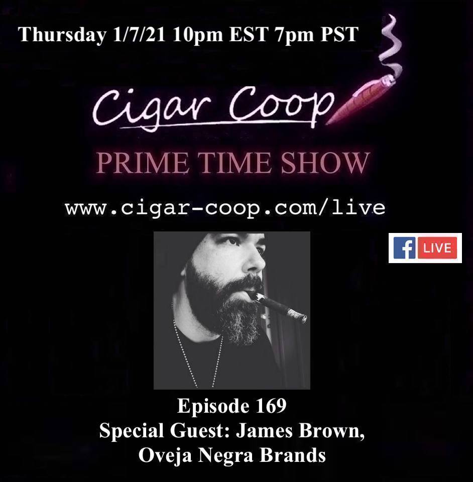 Announcement: Prime Time Episode 169 – James Brown, Oveja Negra Brands