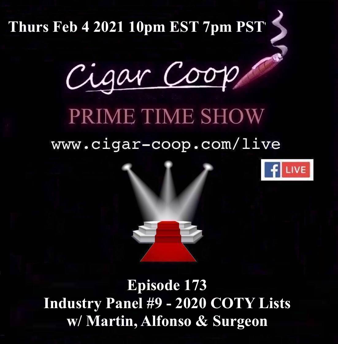 Announcement: Prime Time Episode 173 – Industry Panel #9: 2020 Cigar of the Year Lists