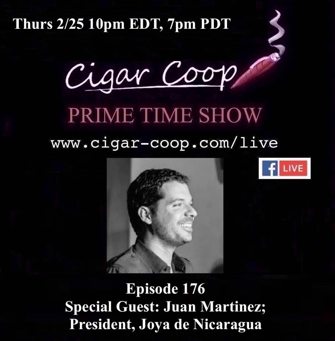 Announcement: Prime Time Episode 176 – Juan Martinez, Joya de Nicaragua