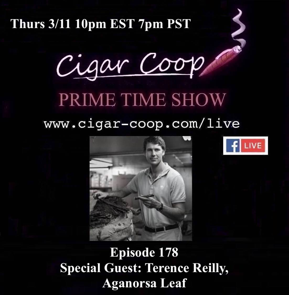 Announcement: Prime Time Episode 178 – Terence Reilly, Aganorsa Leaf