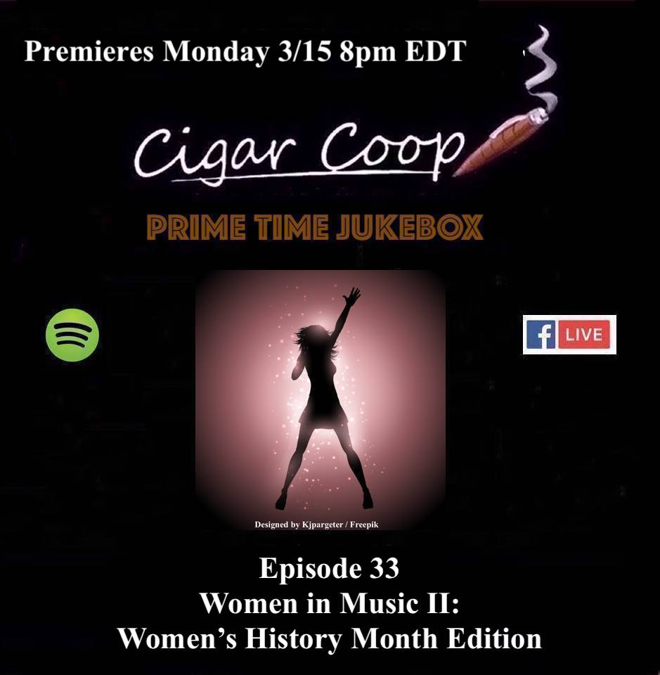 Announcement: Prime Time Jukebox Episode 33 – Women in Music II: Women's History Month Edition