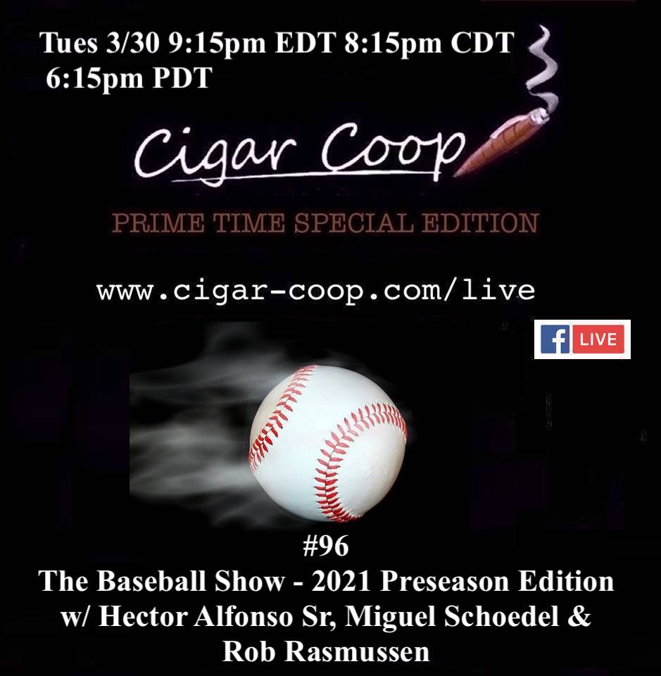 Announcement: Prime Time Special Edition 96 – The Baseball Show: 2021 Preseason Edition