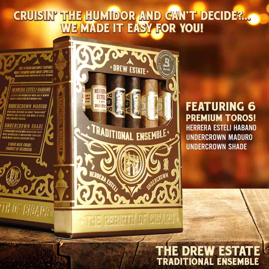 Cigar News: Drew Estate Announces 6-cigar Traditional Sampler Petaca
