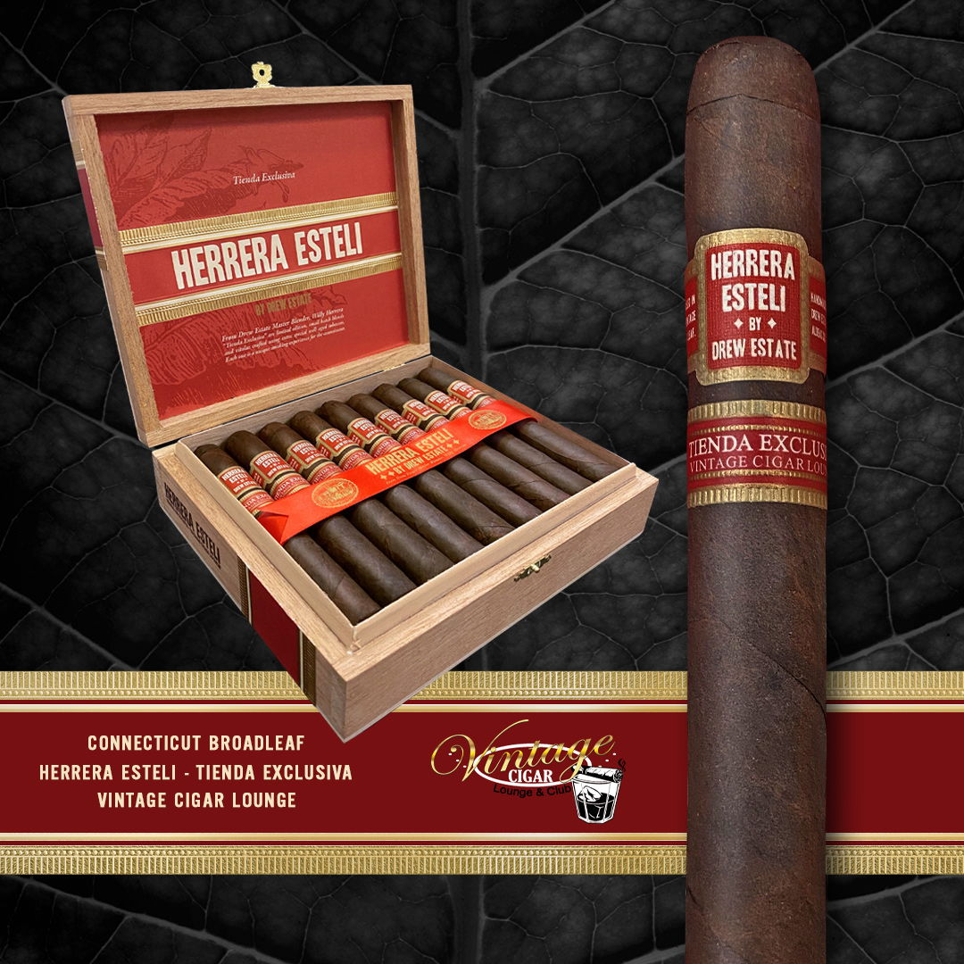 Cigar News: Drew Estate Announces Herrera Estelí Tienda Exclusiva for Vintage Cigar Lounge