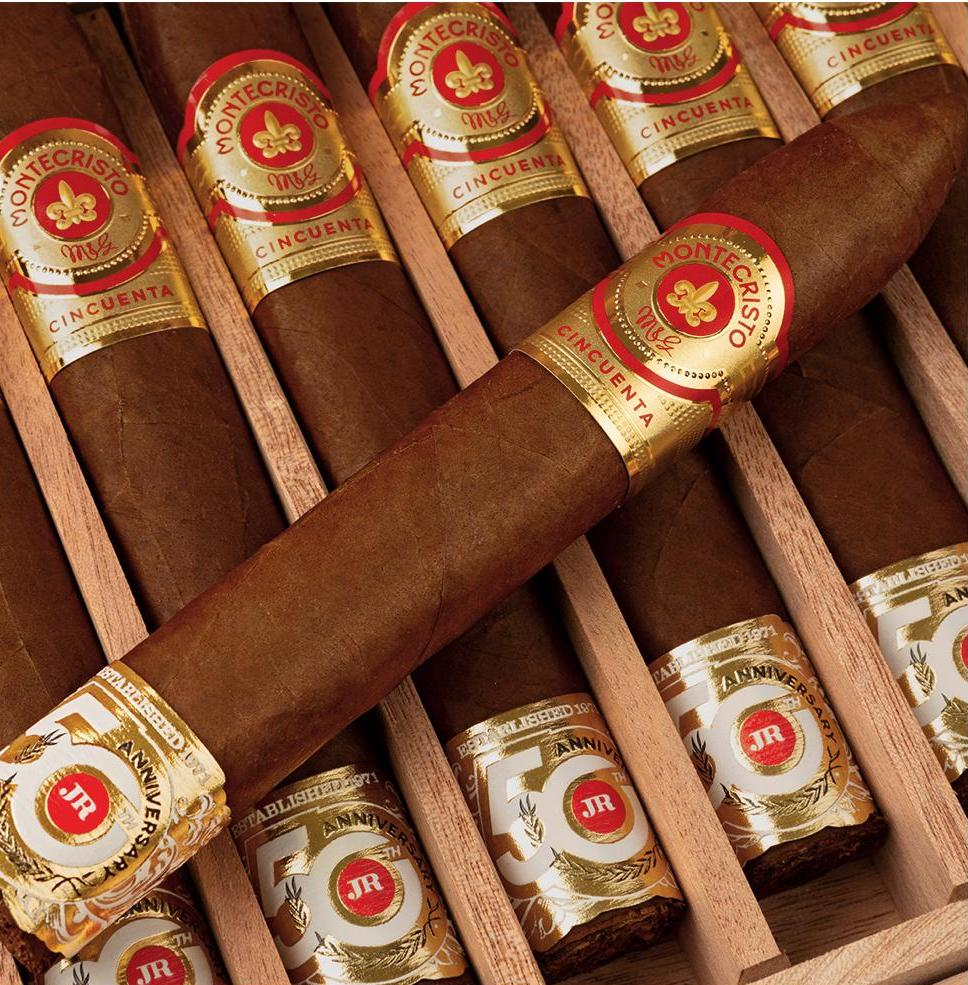 Cigar News: Montecristo Cincuenta JR 50th Becomes Released as Part of JR 50th Anniversary Series
