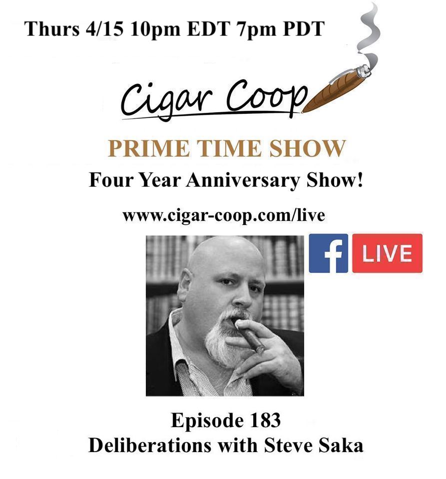 Announcement: Prime Time Episode 183 – Four Year Anniversary Show: Deliberations with Steve Saka
