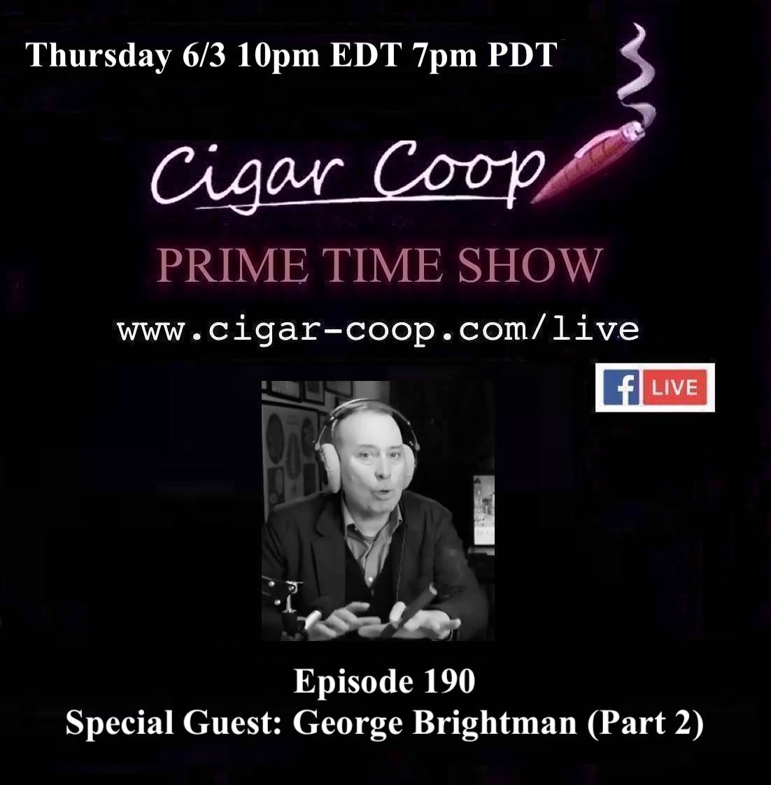 Announcement: Prime Time Episode 190 – George Brightman, Part Two