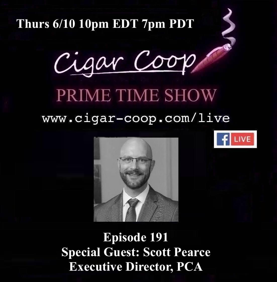 Announcement: Prime Time Episode 191 – Scott Pearce, Premium Cigar Association