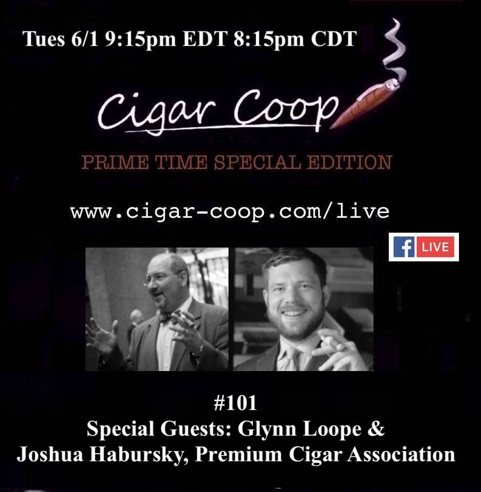 Announcement: Prime Time Special Edition 101 – Glynn Loope & Joshua Habursky, Premium Cigar Association