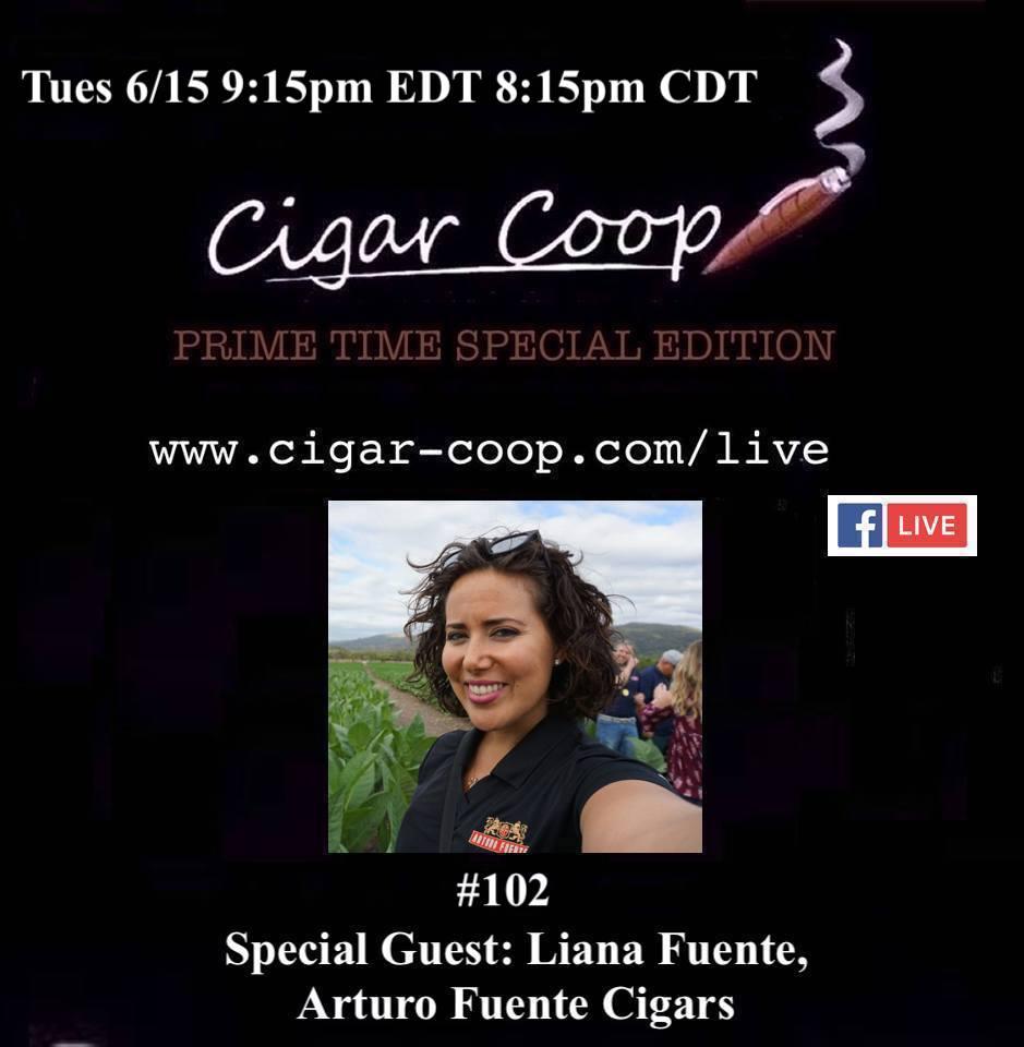 Announcement: Prime Time Special Edition 102 – Liana Fuente, Arturo Fuente Cigars