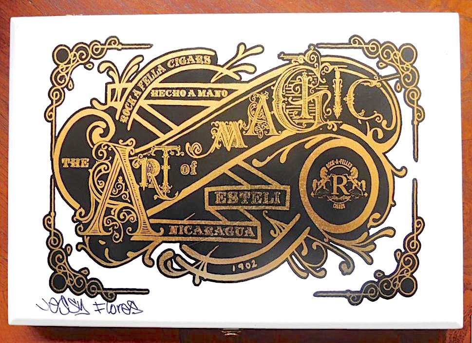 Vintage Rock-A-Feller Art of Magic Box - Top Box View