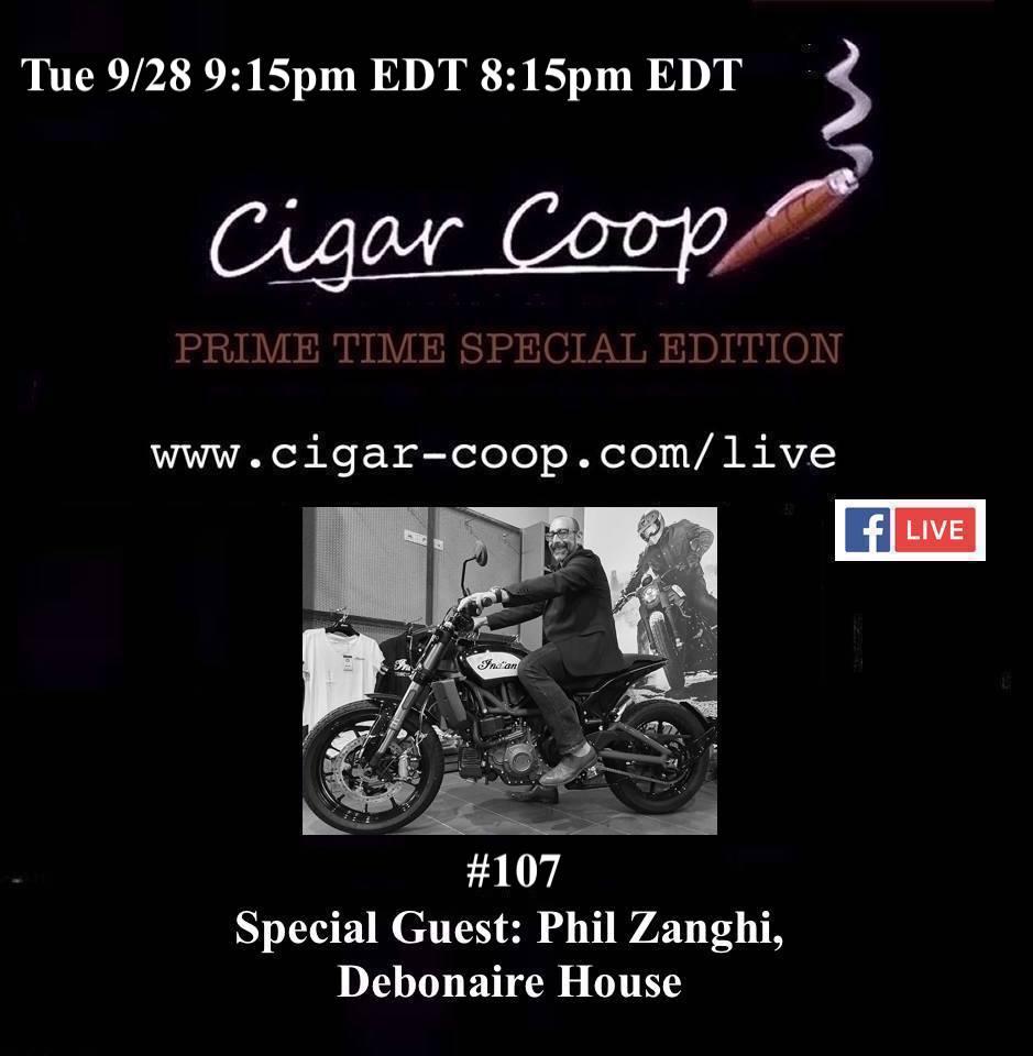 Announcement: Prime Time Special Edition 107 – Phil Zanghi, Debonaire House