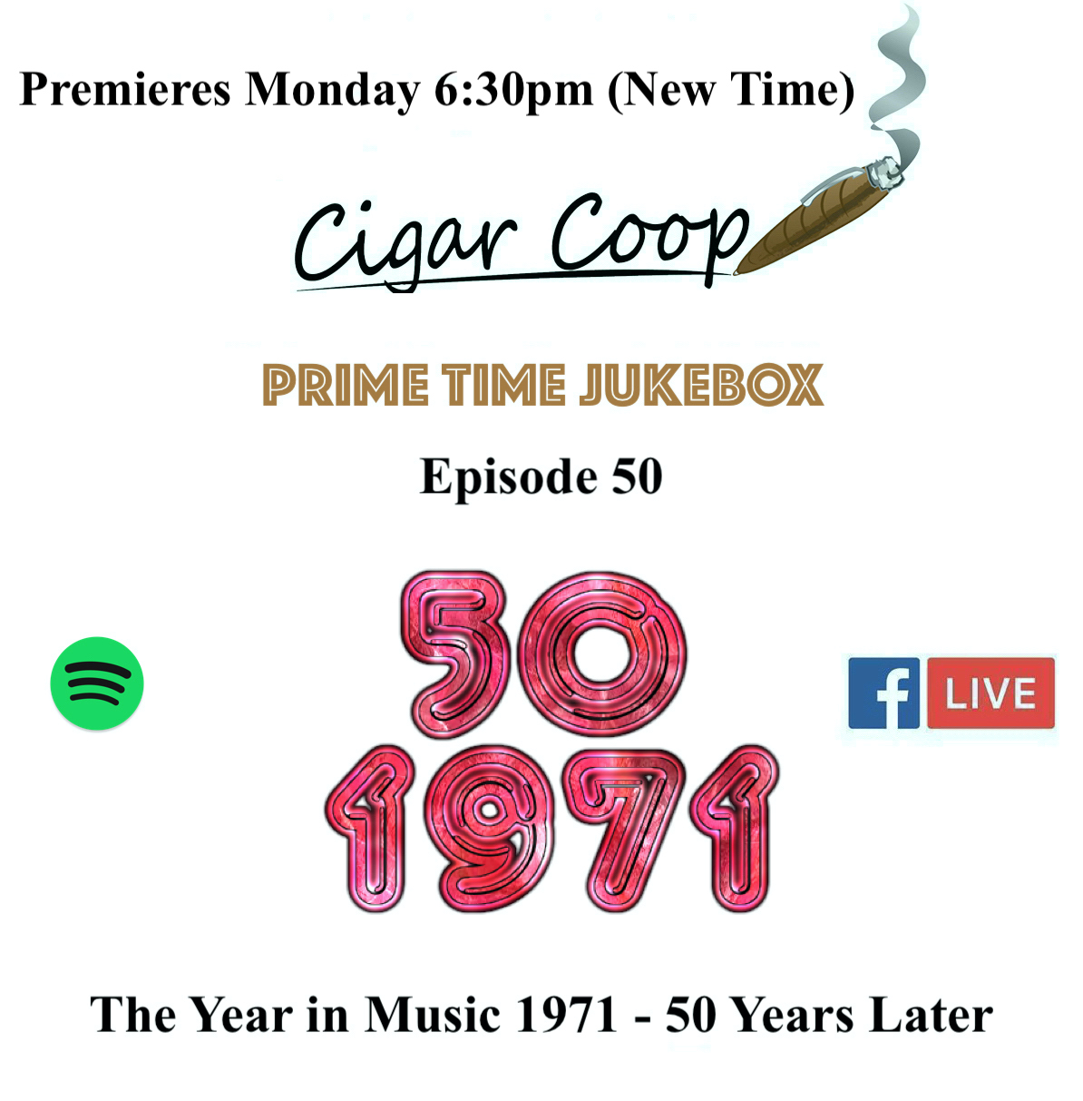Announcement: Prime Time Jukebox Episode 50: The Year in Music 1971 – 50 Years Later