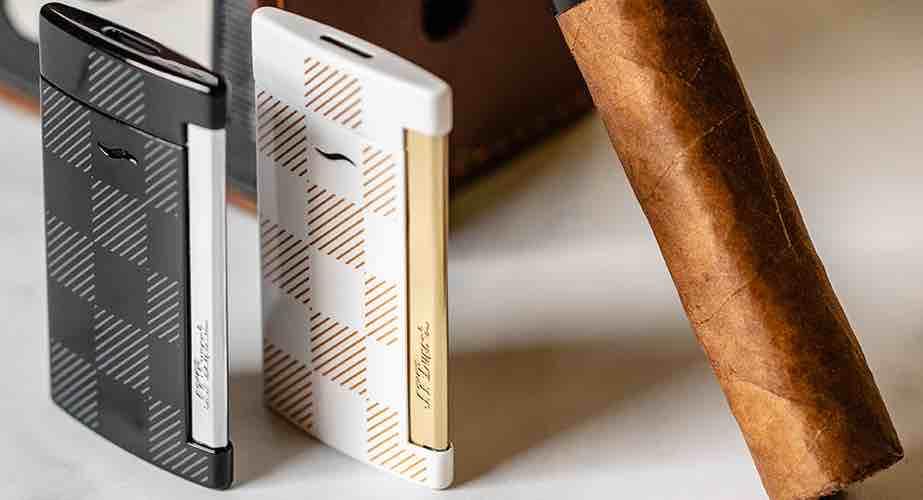 Cigar News: S.T. Dupont Announces Slim 7 Black-Checkered and White-Checkered Units