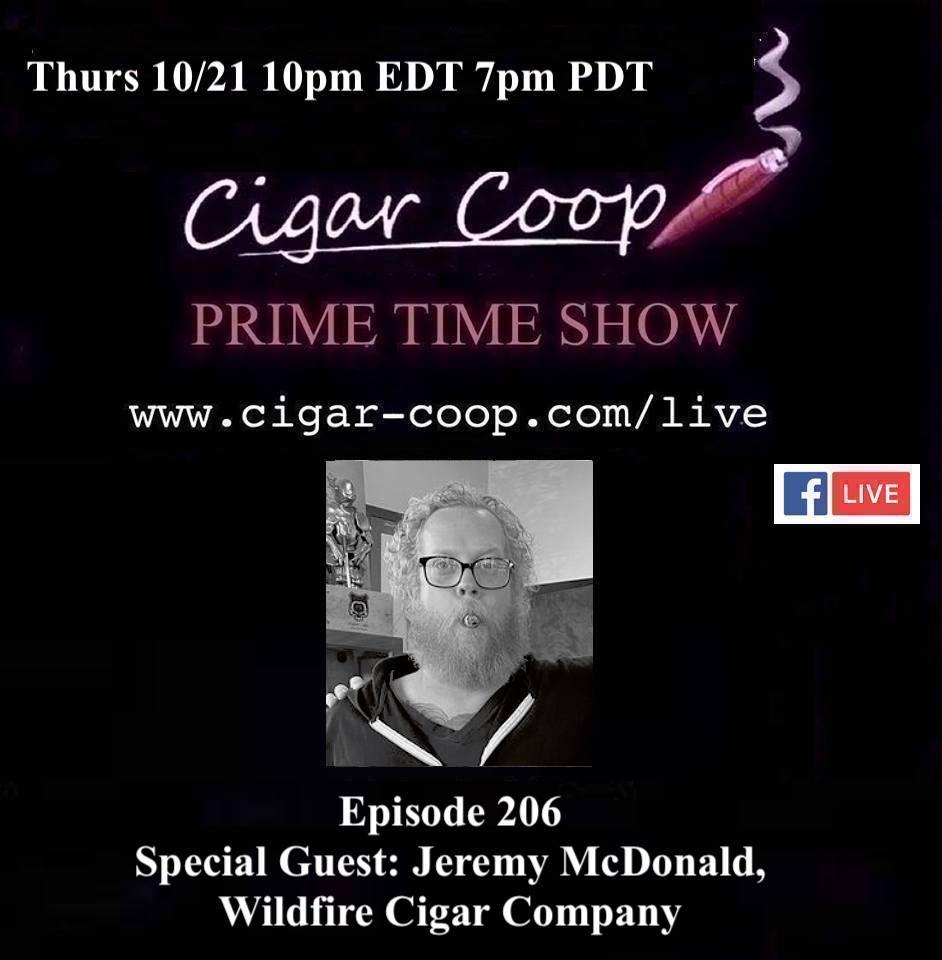 Announcement: Prime Time Episode 206 – Jeremy McDonald, Wildfire Cigar Company