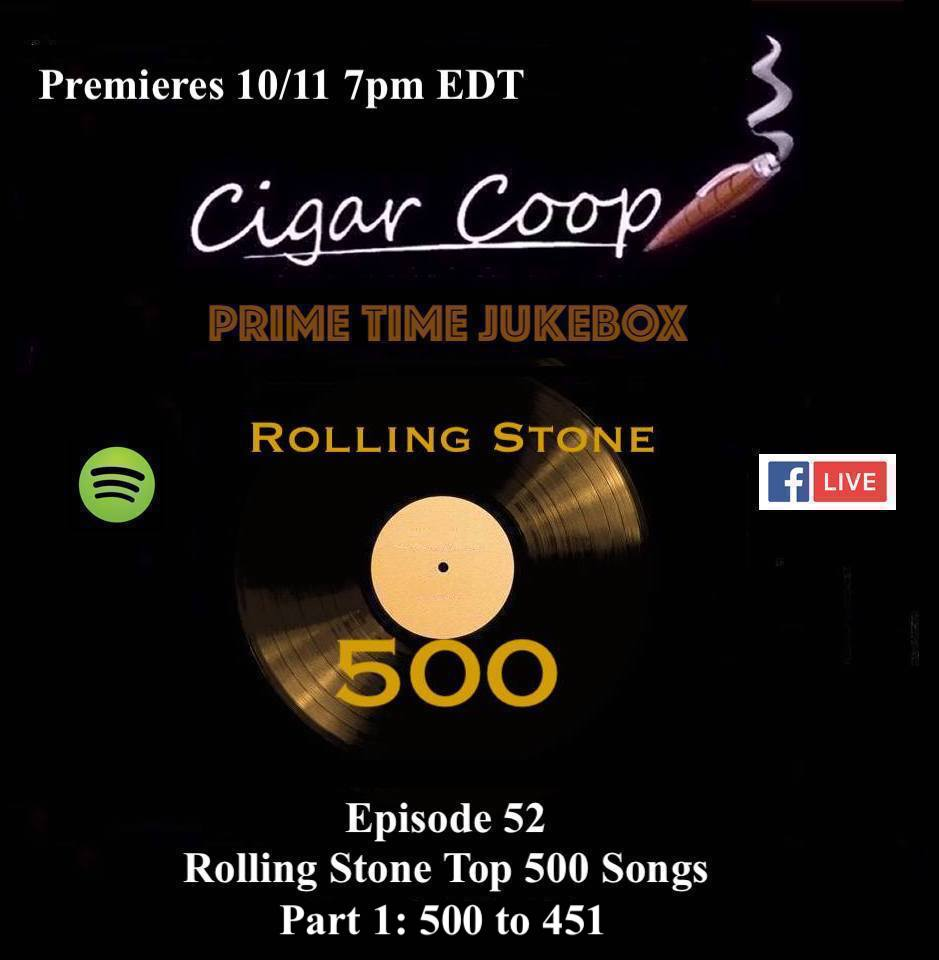 Announcement: Prime Time Jukebox Episode 52 – Rolling Stone Top 500 Songs Part 1: 500 to 451